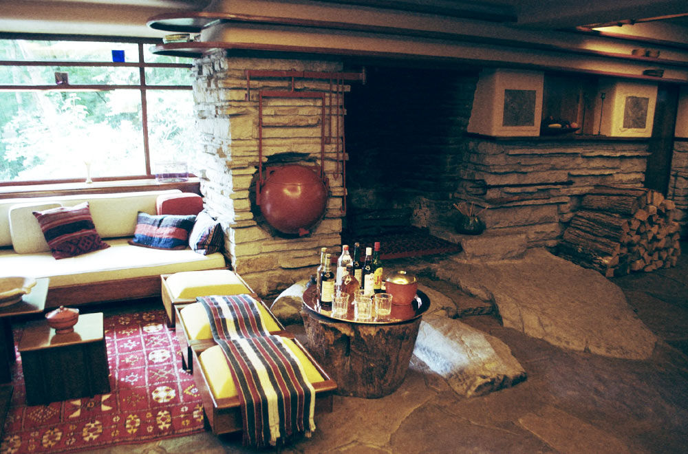 Fallingwater-Fireplace